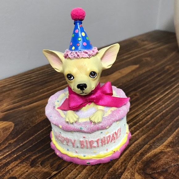 Superb Party Supplies Chihuahua Happy Birthday Figurine Cake Topper Funny Birthday Cards Online Unhofree Goldxyz